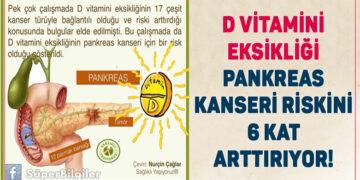 D vitamini eksikliği Pankreas Kanseri vakalarını 6 kat arttırıyor!