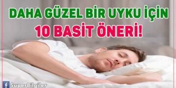 Daha güzel bir uyku için 10 basit öneri!