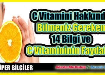 C Vitamini Hakkında Bilmeniz Gereken 14 Bilgi ve C Vitamininin Faydaları