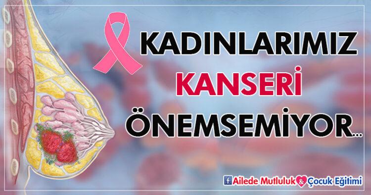 Kadınlarımız kanseri önemsemiyor...