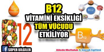 B12 Vitamini eksikliği tüm vücudu etkiliyo 1