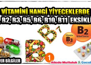 B vitamini hangi yiyeceklerde olur? B1, B2, B3, B5, B6, B10, B11 eksikliği 2