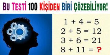 Bu Testi 100 Kişiden Biri Çözebiliyor! 2
