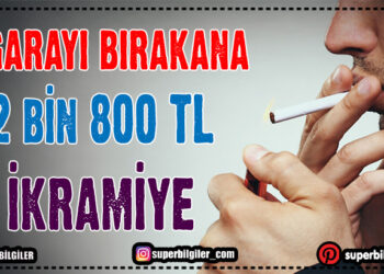 Sigarayı bırakana 2 bin 800 TL ikramiye 1
