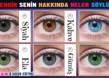 Göz rengin senin hakkında neler söylüyor? 9