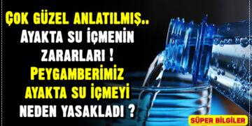 Ayakta su içmenin zararları 2