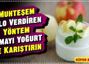 Muhteşem Kilo Verdiren Yöntem, Elmayı Yoğurt ile Karıştırın 4