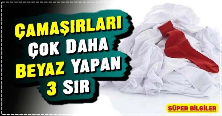 Çamaşırları Çok Daha Beyaz Yapan 3 Sır 1