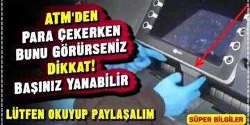 ATM'den Para Çekerken Bunu Görürseniz Dikkat! Başınız Yanabilir 14