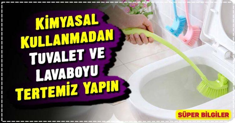 Kimyasal Kullanmadan Tuvalet ve Lavaboyu Tertemiz Yapın 3
