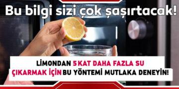 Limondan 5 kat daha fazla su çıkarmak için... 3
