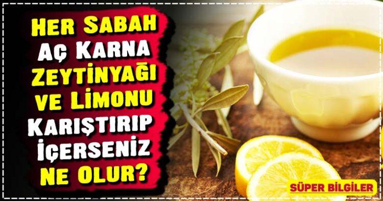Her Sabah Aç Karna Zeytinyağı ve Limonu Karıştırıp İçerseniz Ne Olur? 2
