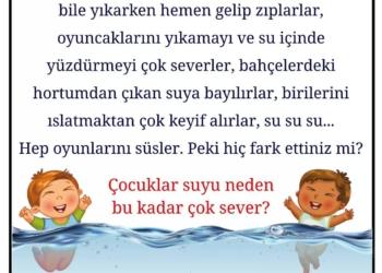 Çocuklar suyla oynamayı neden çok severler? 1
