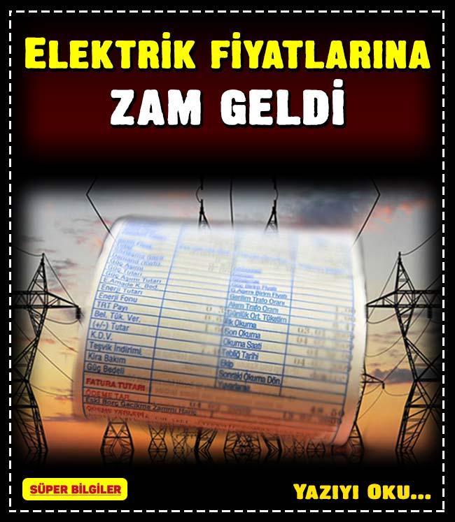 Elektrik fiyatlarına zam geldi 2
