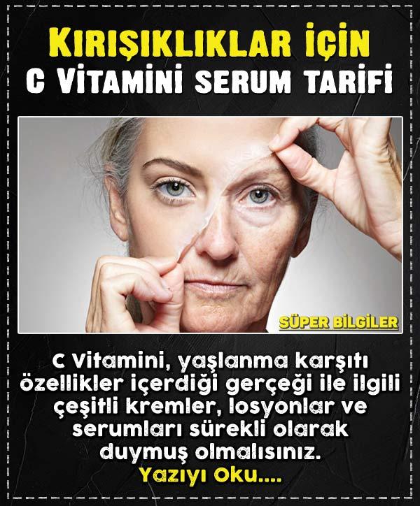 Kırışıklıklar için C Vitamini serum tarifi 3