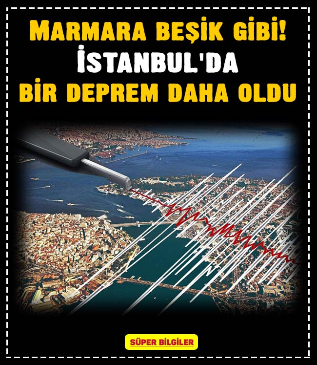 Marmara beşik gibi! İstanbul'da bir deprem daha oldu 2