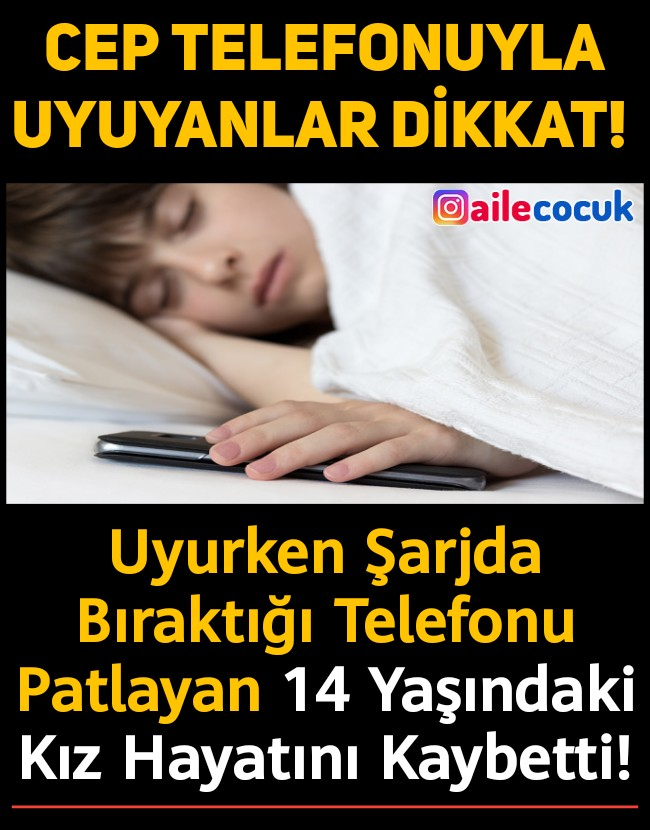 Cep telefonuyla uyumayın! 1