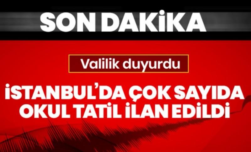 İstanbul'da hasarlı 29 okula deprem tatili!