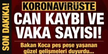 Bakan Koca 29 Nisan corona virüs verilerini açıkladı! İşte 29 Nisan Koronavirüs vaka ve vefat sayıları 2
