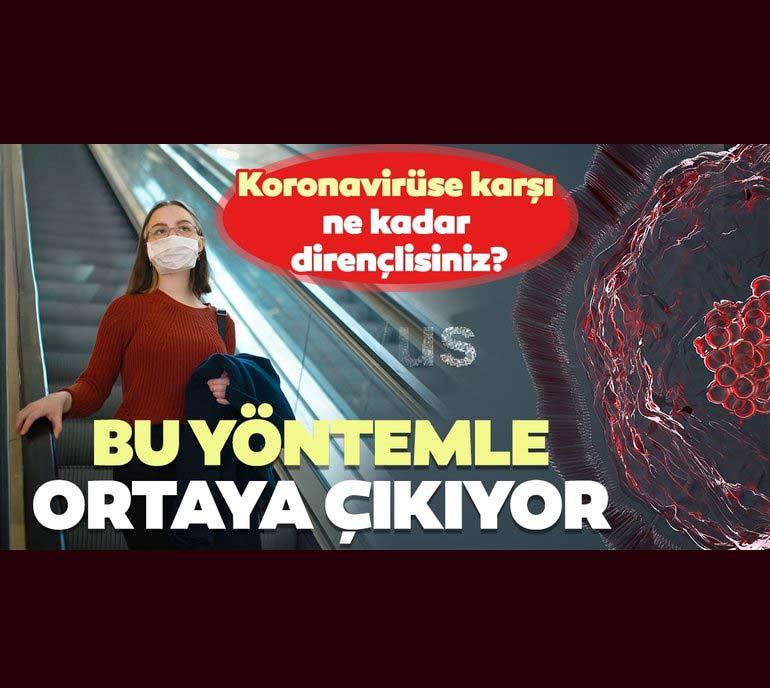 Koronavirüse karşı ne kadar dirençlisiniz? Bu yöntemle ortaya çıkıyor 2
