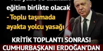 Kritik Kabine Toplantısı sona erdi! Cumhurbaşkanı Erdoğan'dan dikkat çeken açıklamalar