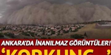 Ankara Polatlı'da inanılmaz görüntüler! Kum fırtınası... 3
