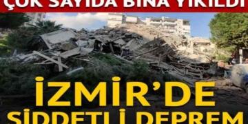 İzmir Seferihisar'da şiddetli deprem: Yıkılan binalar var