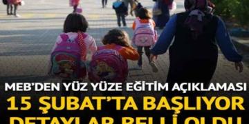 MEB, ilkokul ve ortaokullarda yüz yüze eğitimin usul ve esaslarını belirledi