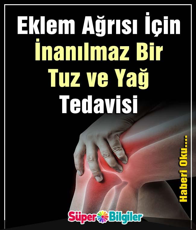 eklem ağrısı İçin İnanılmaz bir tuz ve yağ tedavisi